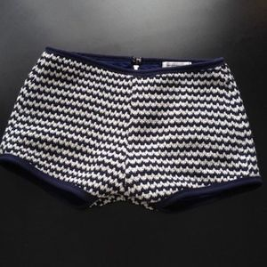 Navy Blue & White Knit Shorts Size M